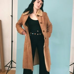 VTG 70s Genuine Shearling & Suede Coat